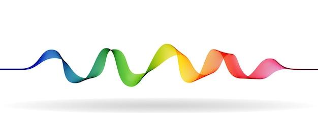 Ondas sonoras. pulso de frequência. equalizador de música. ilustração vetorial.