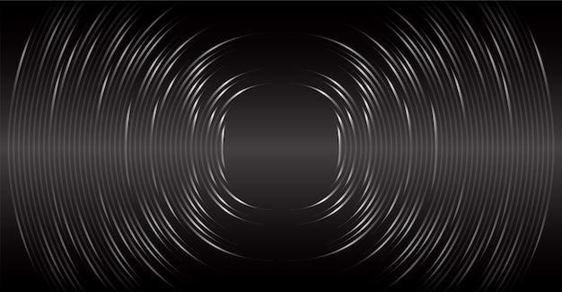 Ondas sonoras que oscilam luz negra escura