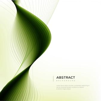 Ondas verdes fundo abstrato