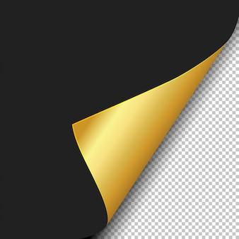 Ondulação de página com sombra em uma folha de papel em branco