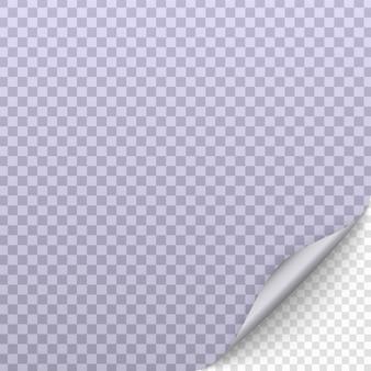 Ondulação de página com sombra