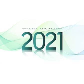 Ondulado elegante feliz ano novo 2021