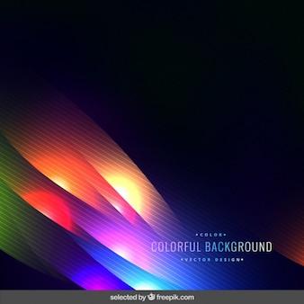 Ondulado luzes fluorescentes fundo