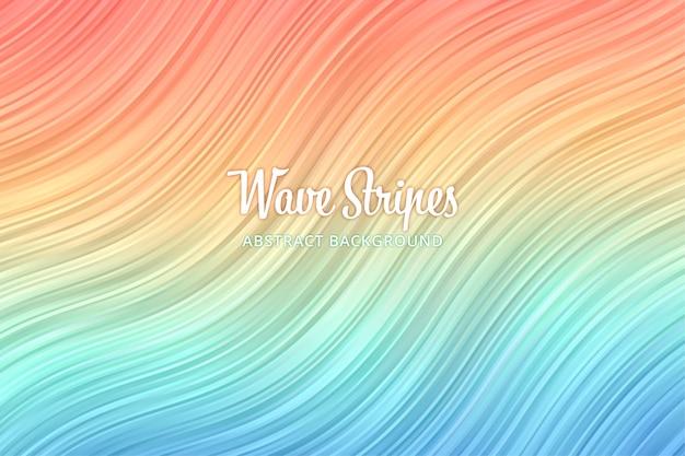 Ondulando o fundo abstrato do padrão de listra. papel de parede colorido da bandeira da onda da linha.