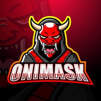 Oni mask mascot esport