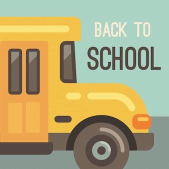 Ônibus escolar amarelo
