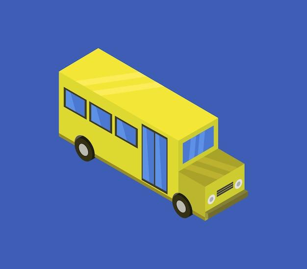 Ônibus escolar isométrico