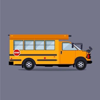 Ônibus escolar.