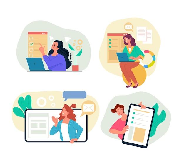 Online internet bsiness atividade educação treinamento pesquisando conceito