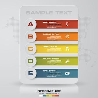 Opção de infográficos de 5 passos.