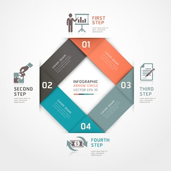 Opções de estilo de origami de etapas de negócio abstrato podem ser usadas para layout de fluxo de trabalho, diagrama, opções de números, intensificar as opções, web design, infográficos.