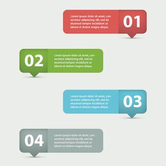 Opções de gráficos de informação lindas e limpas banner
