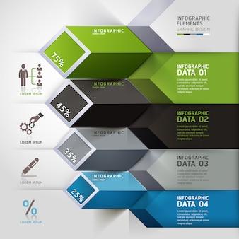 Opções de infografia 3d abstrata.
