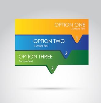 Opções de infografia