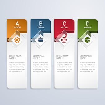 Opções de infográfico empresarial moderno