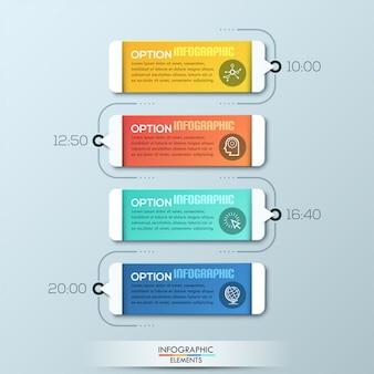 Opções de infográficos de papel moderno