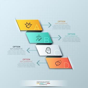 Opções de infográficos espiral moderna