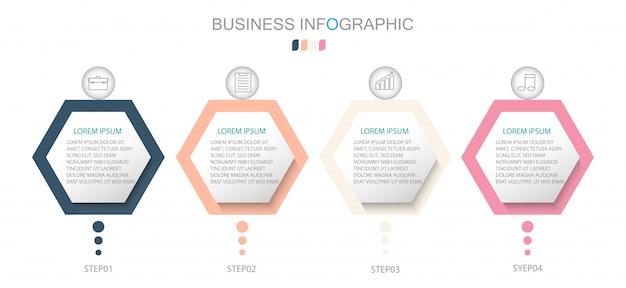 Opções de número de modelo de infográfico de círculo. conceito de negócio com 4 opções, etapas ou processos.