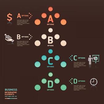 Opções de seta de ponto de negócio abstrato podem ser usadas para layout de fluxo de trabalho, diagrama, números opções, design web, infográficos.