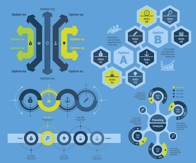 Opções do diagrama de soluções empresariais