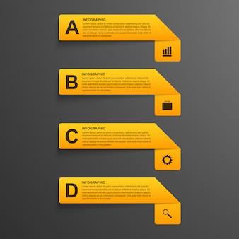 Opções infográficos estilo moderno.