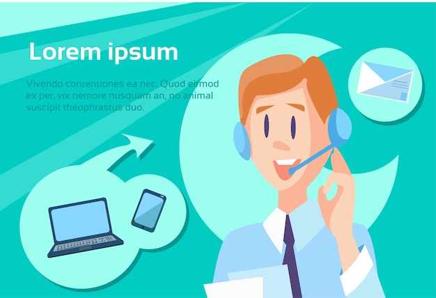 Operador de call center man customer support