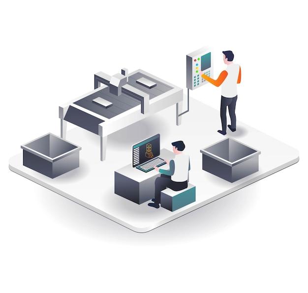 Operador de máquina cnc e design 3d 2