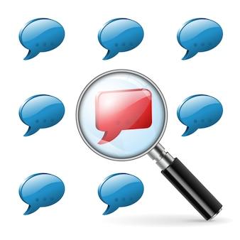 Opinião especial - social media concept