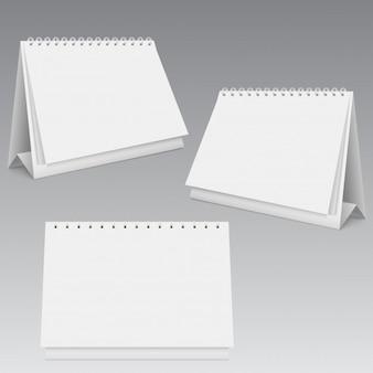 Opiniões diferentes do modelo vazio do calendário.