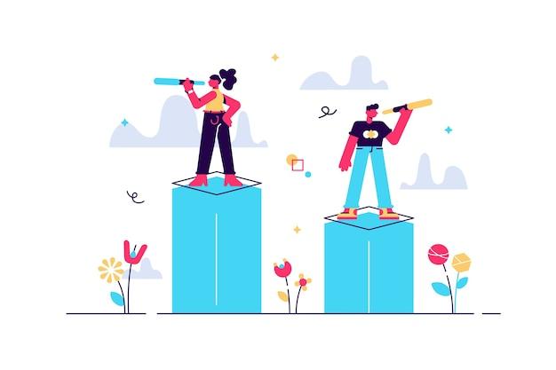 Oportunidade como visão de oportunidades para o alvo de negócios