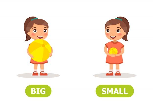 Opostos de um grande e pequeno