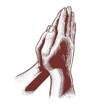 Orando mãos