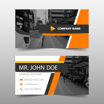 Orange triangle abstract banner template design