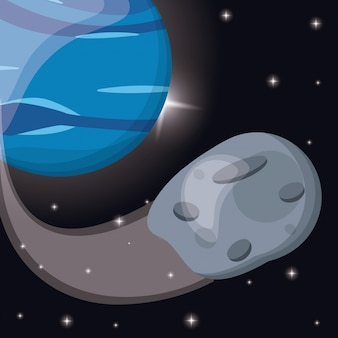 Órbita do asteróide do planeta terra