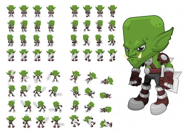 Orc warrior game character