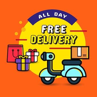 Ordem de entrega durante todo o dia de compras online