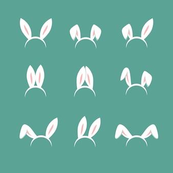 Orelhas de desenhos animados de coelhinho da páscoa