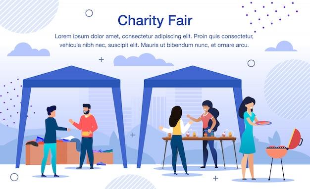 Organização de caridade fair flat