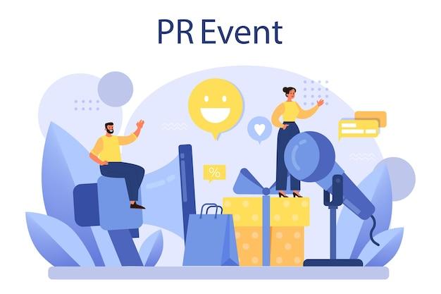Organização de celebração ou reunião como campanha de relações públicas para promoção de negócios