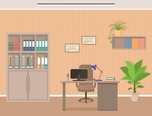 Organização do espaço de trabalho do office.
