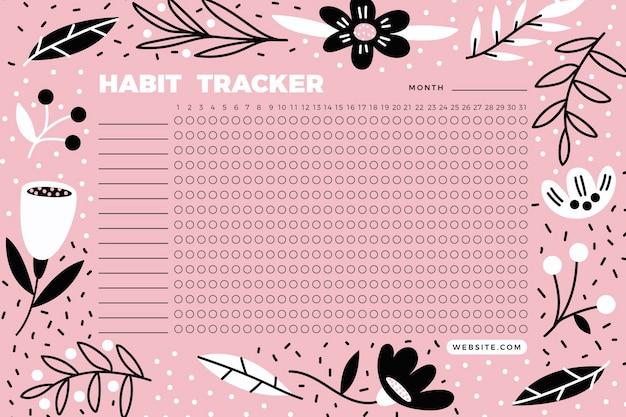 Organizador de modelos de rastreamento de hábitos