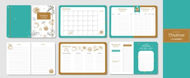 Organizador e planejador de feliz natal