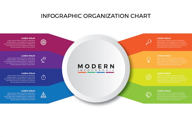 Organograma de infográfico