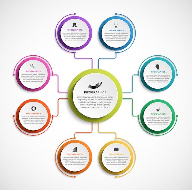 Organograma de projeto infográfico.