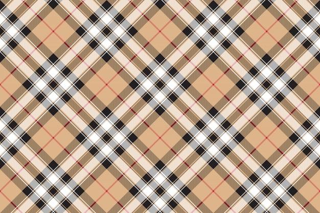 Orgulho da escócia ouro tartan tecido textura sem costura padrão diagonal