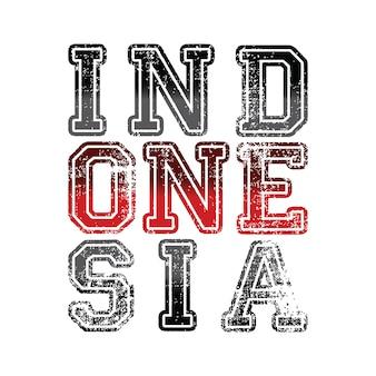 Orgulho de texto de palavra indonésia do vetor de ideologia nacional