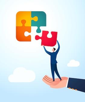 Orientação para unir quebra-cabeças