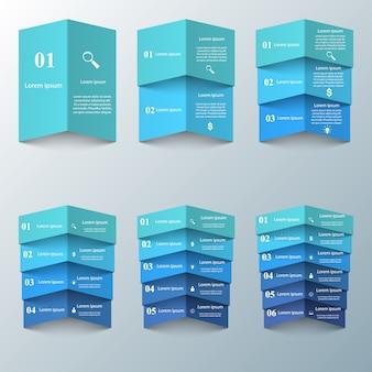 Origami de infográficos de negócios