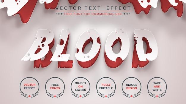 Origami de sangue editar estilo de fonte editável de efeito de texto