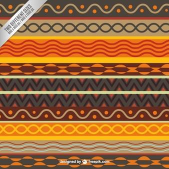 Origem étnica colorida em estilo abstrato